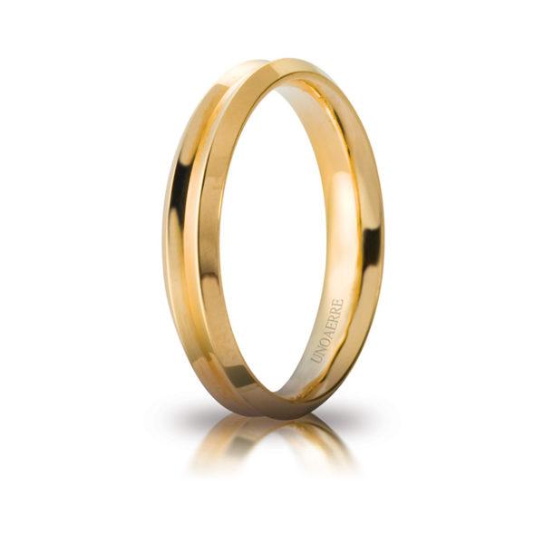 Anello Fede oro giallo Unoaerre Cerchi di Luce