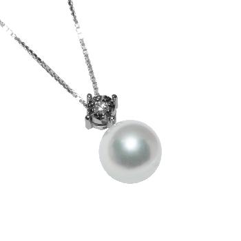 Pendenti Genesia in Oro 750 Bianco Perle: Fresh water