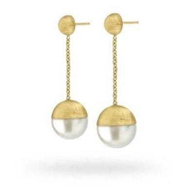 Argento Orecchini Diva Défilé, pendant, gold plated