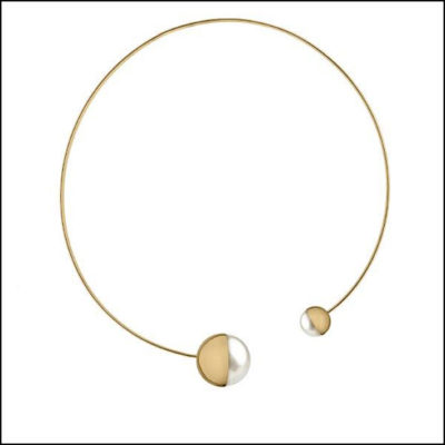 Argento Collana Diva  Eclisse gold plated