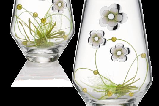 vasi in cristallo e argento Valenti