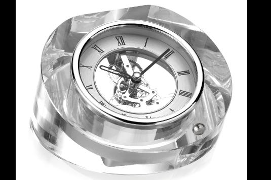 Orologi in cristallo e argento Valenti