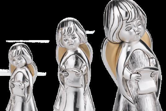 Angeli argento e resina Valenti