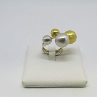 anello donna argento 925 Eclisse rodiato satinato Diva Gioielli made in italy