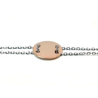 Bracciale donna oro bianco oro rosa