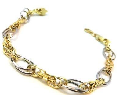 Bracciale donna oro giallo oro bianco