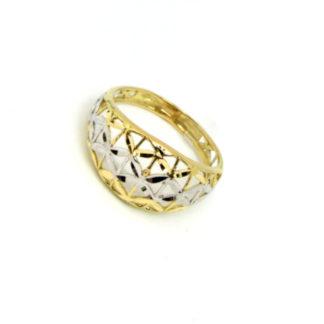anello donna oro giallo e bianco