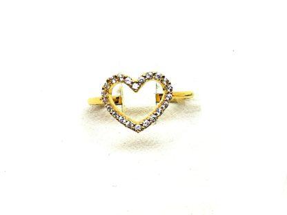 anello donna oro giallo zirconi