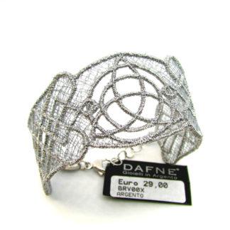 bracciale donna argento e tessuto gioielli made in italy