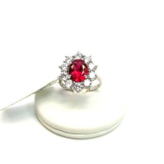 anello donna argento zirconi pietre colorate