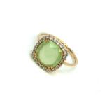 anello donna oro rosa pietre colorate e zirconi