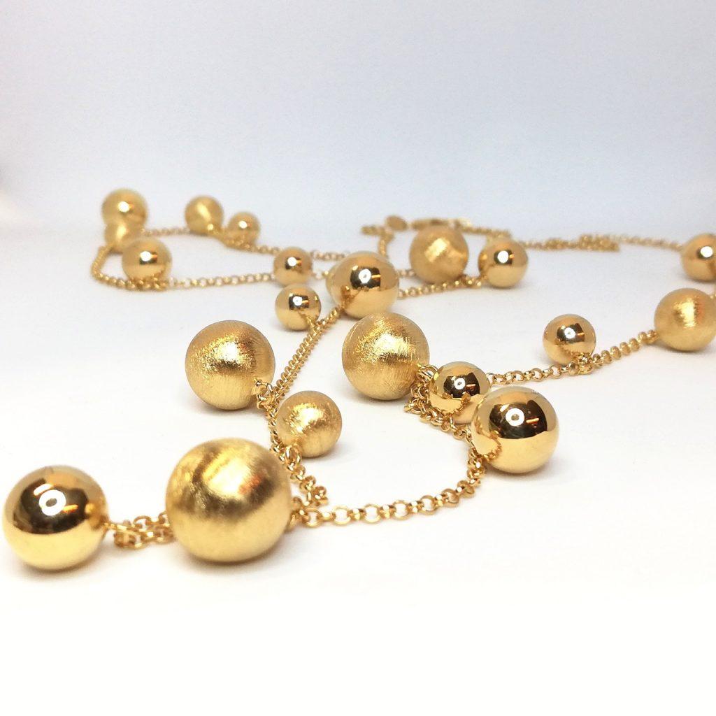 Collana donna argento dorato Luce Diva Gioielli