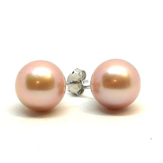 Orecchini donna oro bianco perle acqua dolce Genesia Perle
