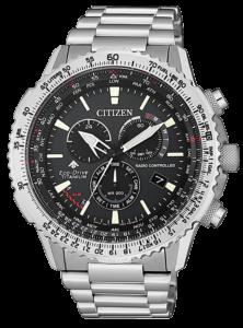 orologio uomo citizen Radiocontrollato Crono Pilot Super Titanio