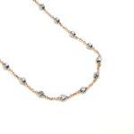 Collana donna oro rosa oro bianco Sfere Diamantate