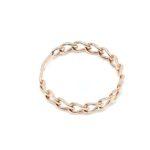 anello donna in oro rosa maglia grumetta rigido