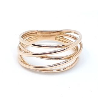 anello donna filo della vita in oro rosa gioielli made in italy