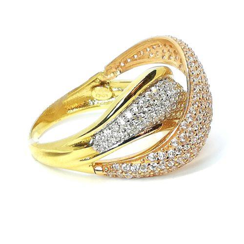 Anello a fascia in oro giallo oro bianco e oro rosa Intrecciato