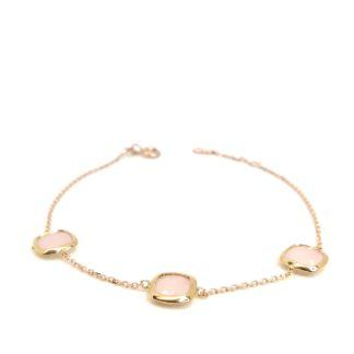 Bracciale donna in oro rosa e pietre colorate Rosa