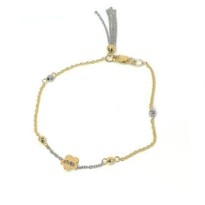 Bracciale donna oro giallo oro bianco Fiore