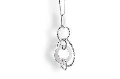 Orecchini donna argento Diamond Cerchi Madì Gioielli