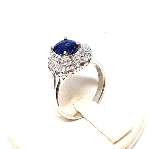anello diamanti zaffiro