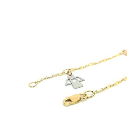 Bracciale bambino in oro giallo e oro bianco Angelo