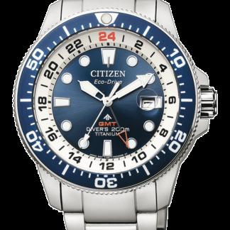 Orologio uomo Citizen Promaster Diver's Eco Drive Super Titanio GMT BJ7111-86L