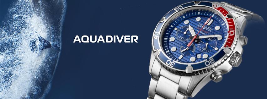 Orologio uomo Vagary Aquadiver Crono acciaio
