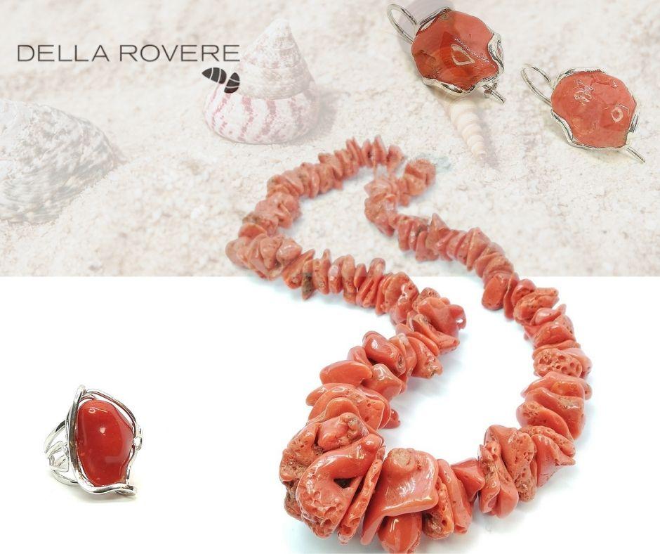 della rovere gioielli in pietre dure corallo