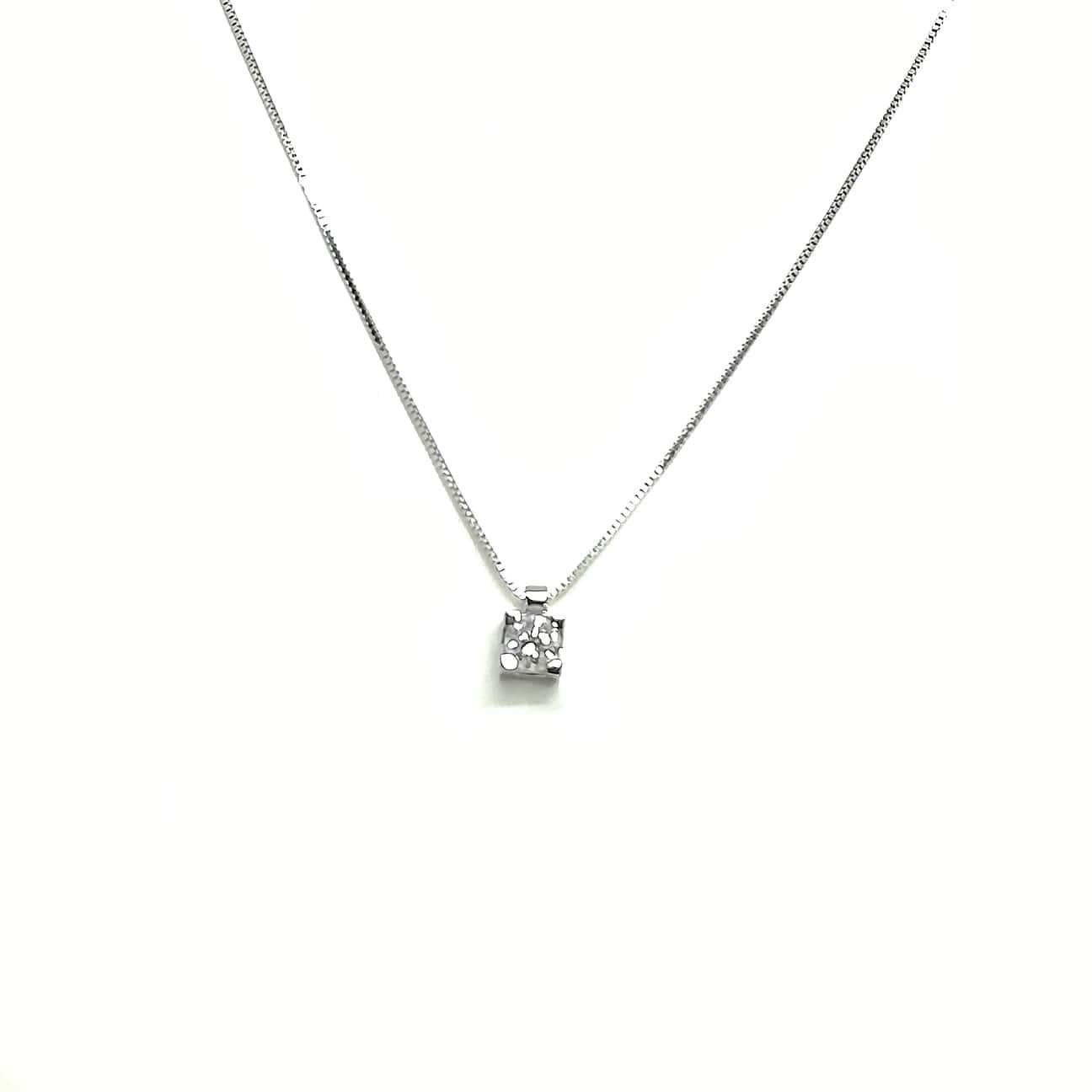 orologio 86a46 f588a Collana donna in oro bianco e diamanti Punto Luce