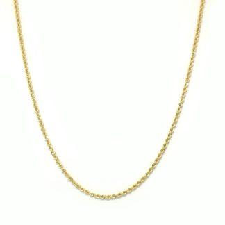 Catena donna oro giallo Cordoncino