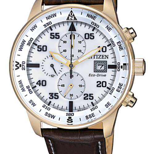 Orologio uomo Citizen Of Collection Crono Aviator acciaio CA0693-12A