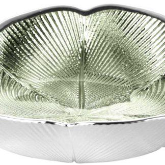 Piatto in vetro e argento Quadrifoglio Argenesi 1.753750