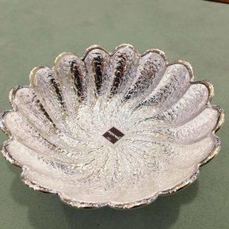 Piatto in vetro e argento Argenesi Torciglione 0.02599