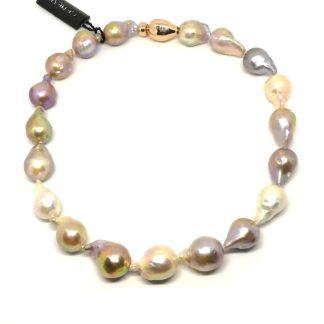 Collana donna in Argento e Perle di Acqua dolce Genesia