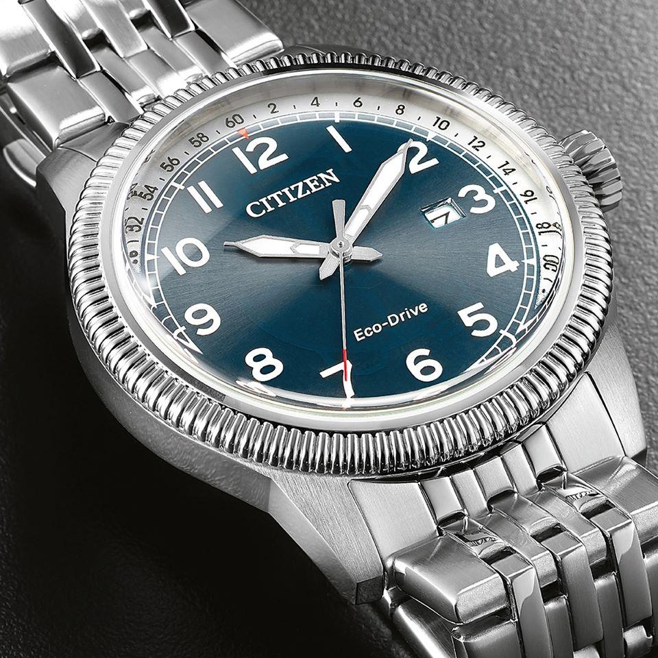 Orologio uomo Citizen Of Collection Aviator Acciaio BM7480-81E
